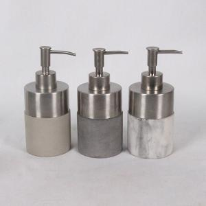 China wholesale cheap cement  bathroom accessories/concrete hotel Bathroom Accessories Set 6 pcs, soap dispenser,tumbler, on sale