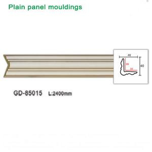 China Manufacturer plain panel moulding 2400mm white decorative ceiling cornice wholesale