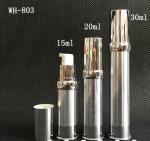 空15ml 20ml 30mlのブラシの銀化粧品の空気のないポンプびん