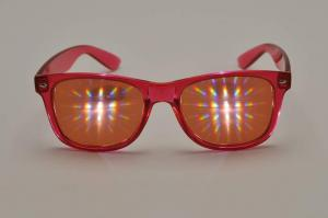China Plastic Rainbow Diffraction Glasses  Style For Led Lighting Show on sale
