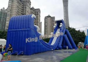 China New Fashion Blue Commercial Giant Inflatable Slide For Adult And Kids on sale