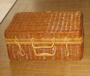 China Two Person Use Natural Color Chinese silvergrass Picnic Basket on sale
