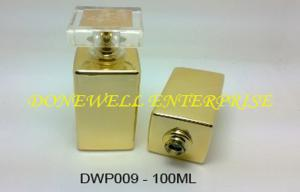 China Crystal White Square Refillable Empty Glass Perfume Bottles For Mens on sale