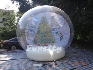 China Customized Size 0.6MM Pvc Material Inflatable Snow Globe for Christmas / Halloween on sale