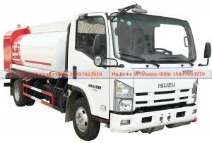China ISUZU Fuel Bowser Truck with Fuel Dispenser Hose reel and flow meter 6000Liters on sale