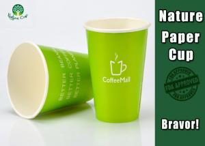 China Healthy Compostable Coffee Cups , Disposable Espresso Cups For Hot Beverage on sale