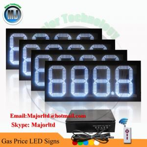 Wireless Control 12inch led petrol price displays For Gas Station