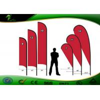 China Full Printing Outdoor Decorative Flags And Banners With Feather Knife Shaped on sale