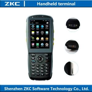 China Handheld 1D 2D Laser Barcode Scanner With Display 3G RFID NFC reader on sale