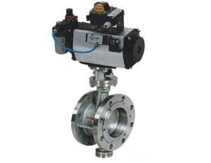 China Pneumatic Operated 4 Inch Eccentric Butterfly Valve Flange Type ANSI 300 LB on sale