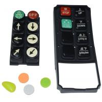 China Black Tv Remote Control Buttons , Carbon Pill Keypad With Spraying Coating PU Coating on sale