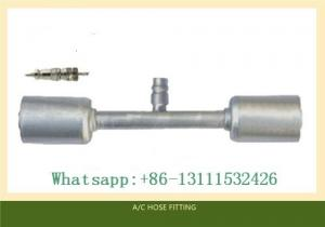 China Through pipe with Al jacket R134a High& Low Pressure valve air conditioning Hose fitting on sale