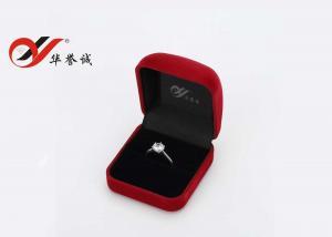 Quality Boîte à bijoux de cru adaptée aux besoins du client par couleur, boîte carrée de bague de fiançailles de velours petite for sale