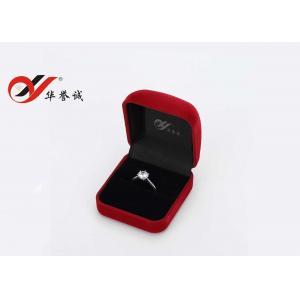 Quality Joyero modificado para requisitos particulares color del vintage, caja cuadrada del anillo de compromiso del terciopelo pequeña for sale