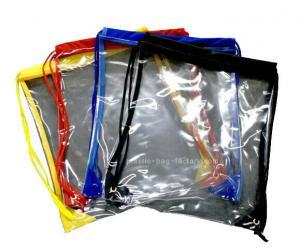 7b4f5dfecb ... Quality Stylish waterproof drawstring backpack   clear drawstring PVC  beach bag for sale ...