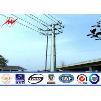 16m High Mast Steel Utility Power Poles High Voltage Pole With Aluminum Conductor
