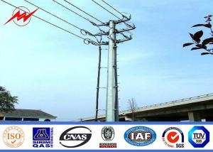 China 16m High Mast Steel Utility Power Poles High Voltage Pole With Aluminum Conductor on sale