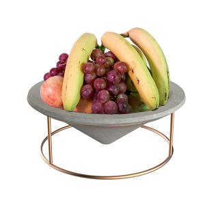 China Cone plated wire rack Concrete tray home decoration for food , fruit on sale