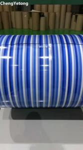 China Stripe Pattern Printed Stainless Steel Sheet Roll Weight ≤8T Yield Strength 240-700Mpa on sale