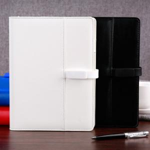 China A5/A6 size PU leather magnetic flap USB 4G customized Refillable Ring Binder organizer on sale