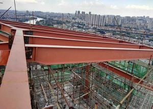 China Wide Span Steel Structure High Rise Building , Multi Storey Construction Waterproof on sale