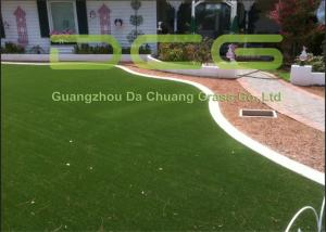 China PE Curl Yarn Artificial Grass Garden / Fake Grass Squares 30mm Pile Height on sale