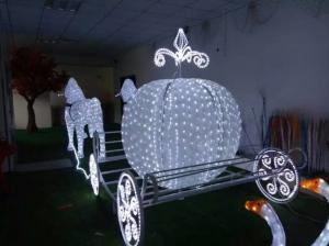 Led Christmas Horse Carriage Cinderella