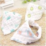 Classic Personalised Muslin Baby Bibs Soft Absorbent Cotton Multi Layers