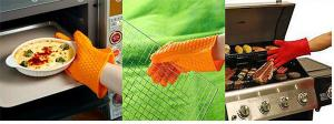 China Kitchen Waterproof BBQ heat resistant silicon gloves on sale