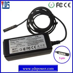 China wholesale china charger dc power adapter / tablet charger 12v 3.6a 45w for microsoft surface pro on sale
