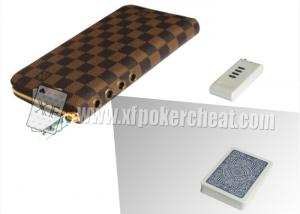 China Brown Leather LV Wallet Double Lens Camera For Poker Analyzer 30 - 40cm on sale