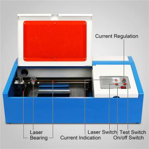 China 40W  Mini Desktop CO2 Laser Engraving Machine 3020 for Acrylic Wood Bamboo Rubber stamp on sale