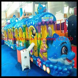 China hot sale fiberglass  musical sea world Track Train Rides for Kids on sale
