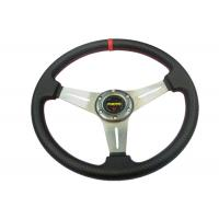 PU Material Race Car Steering Wheel Protect Hands From Over - Hot / Cold