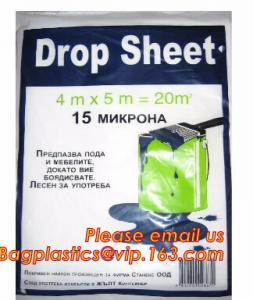 China Plastic Disposable Cover Sheet Protect Drop Cloth / Dust Sheet on sale