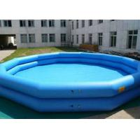 Double Tube Inflatable Swimming Pool Blue Printed Plato Tarpaulin Materials