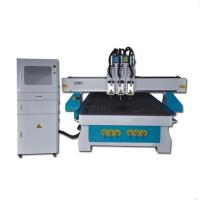 Dsp 6KW water cooling spindle 4x8 ft 3 head cnc wood router machine for sale