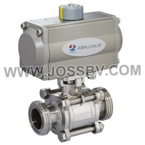 China Sanitary 3PCS Thread Ball Valve With Actuator on sale