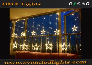 China Warm White Star Shape Led Curtain Lights Back Drop For Home on sale