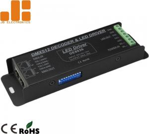 China DC12-24V 4 Output Channel LED Dimmer Controller With RJ45 Interface Input on sale