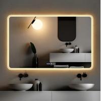 China Hotel Bathroom Wall Hanging Makeup Vanity 60*80cm LED light mirror with bluetooth speaker on sale