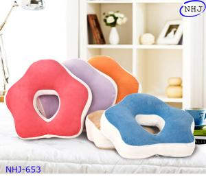 China Flower Shaped Nap Pillow With Hole NHJ653 on sale