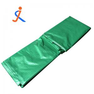 China Double green PE plastic woven sheet poly tarp sheet roll polyethylene tarpaulin for truck on sale