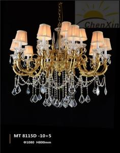 China Crystal Water Drop Luminaire Chandelier Pendant Lights Lace Glass Lampshade on sale