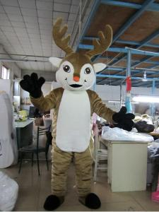 Quality Custom Adults Reindeer Animal Mascot Costume  for sale