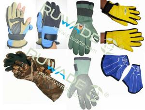 China Neoprene gloves for different use,such as diving,fishing,hunting,swimming gloves on sale