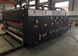 China Electric Driven 4 Color Flexo Printing Machine , Flexo Printer Slotter Die Cutter on sale