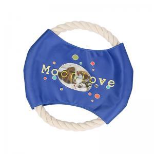 China Promotional Pet Cotton Rope Frisbee Dog Frisbee Logo Customized on sale