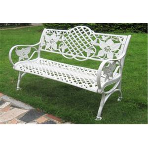 China Waterproof Decorative Outdoor Furniture Steel Garden Bench 1290 * 590 * 850mm on sale