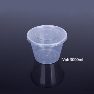 China Disposable Lunch Box 3000ml Polypropylene Food Packaging on sale